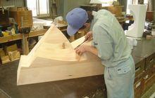 木型製作作業風景